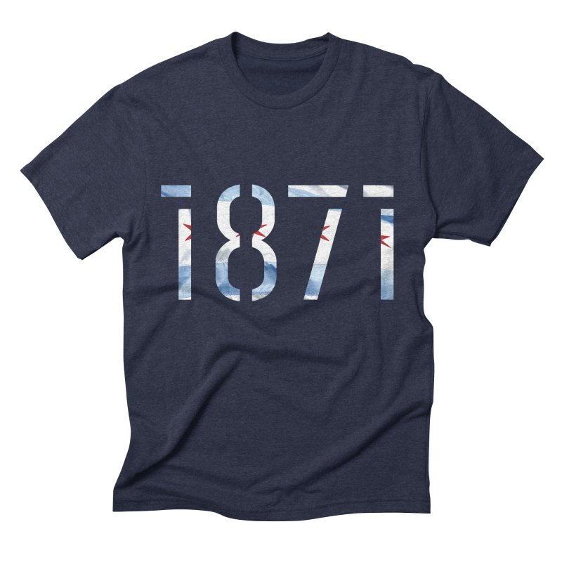Chicagoness Men's Triblend T-Shirt by 1871's Shop