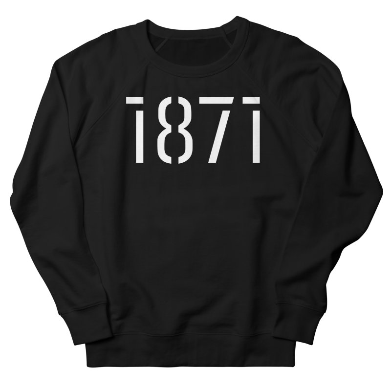The Stencil - White Men's French Terry Sweatshirt by 1871's Shop