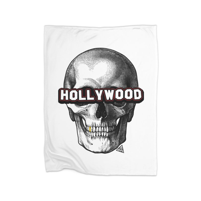 Hollywood Is Dead - Skull & Bones - Light Home Blanket by 90FIVE
