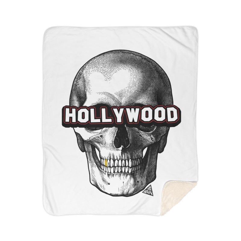 Hollywood Is Dead - Skull & Bones - Light Home Blanket by 90FIVE