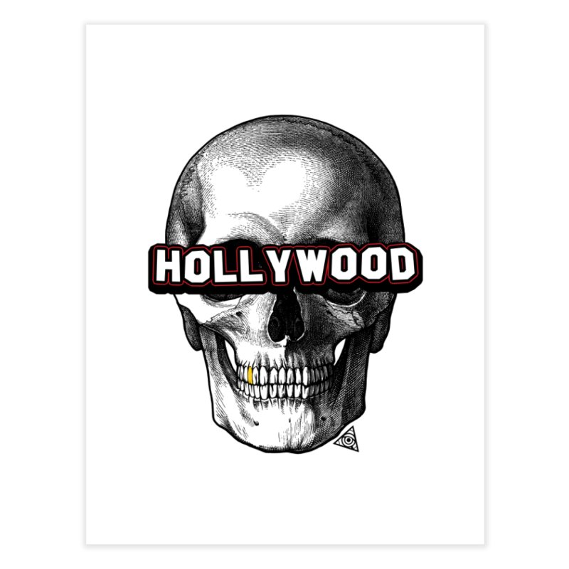 Hollywood Is Dead - Skull & Bones - Light Home Fine Art Print by 90FIVE