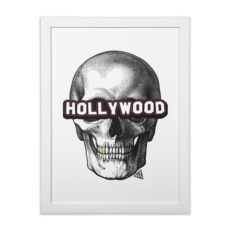 Hollywood Is Dead - Skull & Bones - Light Home Framed Fine Art Print by 90FIVE