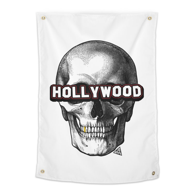 Hollywood Is Dead - Skull & Bones - Light Home Tapestry by 90FIVE