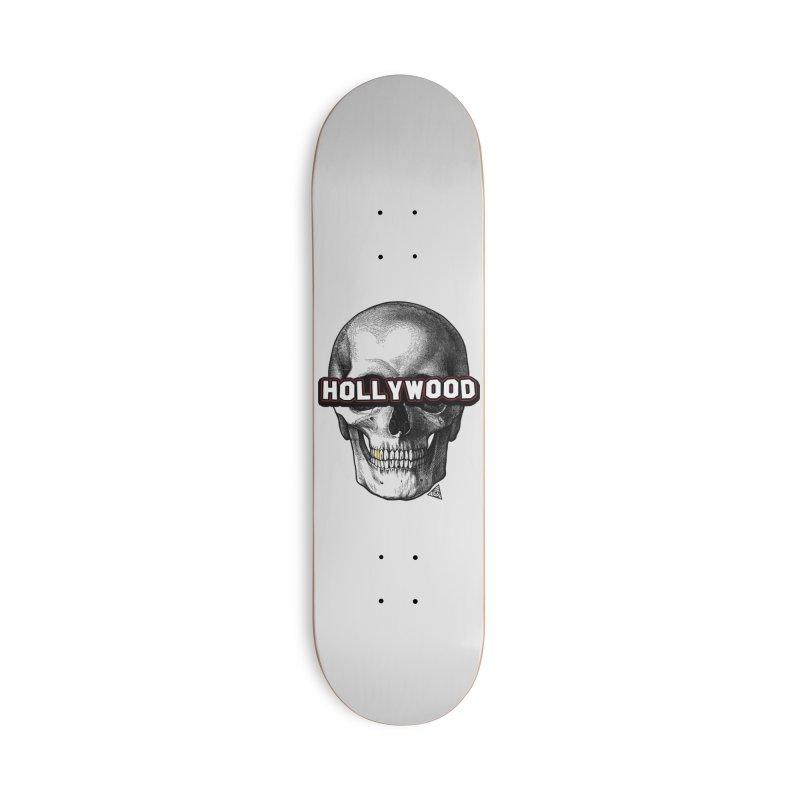 Hollywood Is Dead - Skull & Bones - Light Accessories Skateboard by 90FIVE
