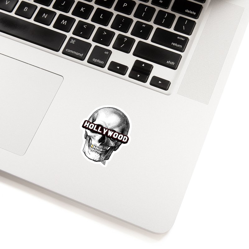 Hollywood Is Dead - Skull & Bones - Light Accessories Sticker by 90FIVE