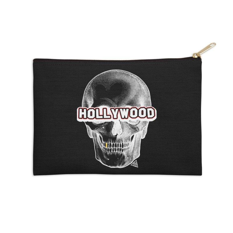 Hollywood Is Dead - Skull & Bones - Dark Accessories Zip Pouch by 90FIVE