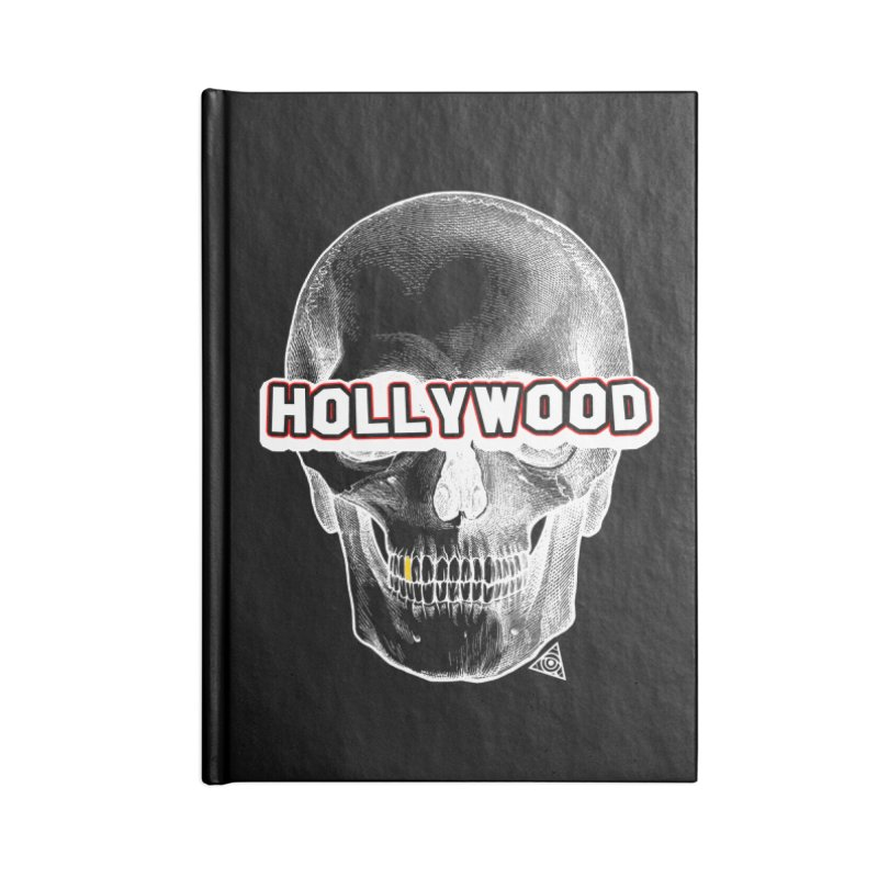 Hollywood Is Dead - Skull & Bones - Dark Accessories Notebook by 90FIVE