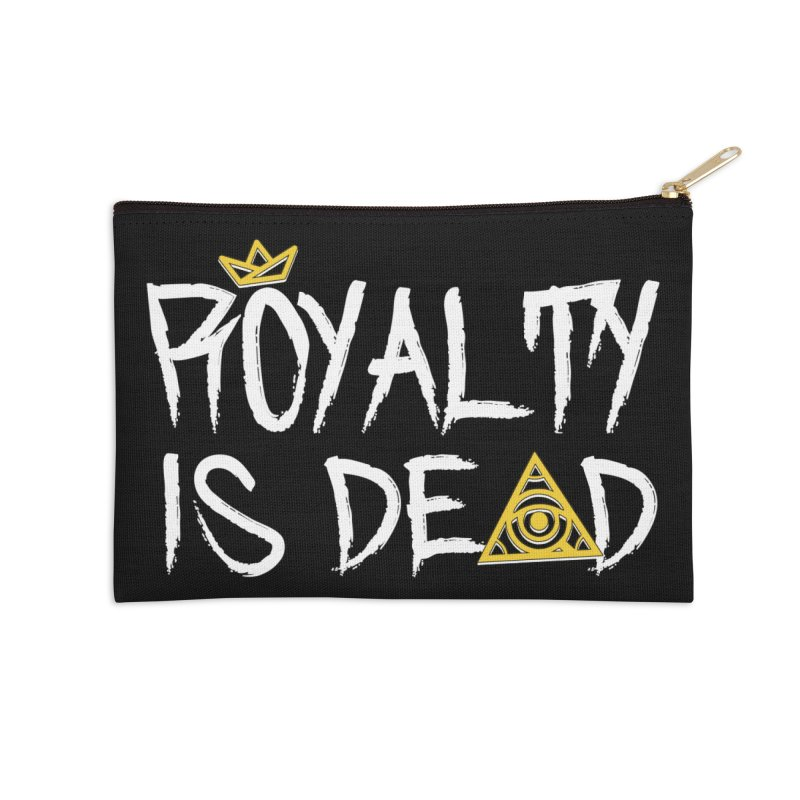 Royalty Is Dead - Dark Accessories Zip Pouch by 90FIVE