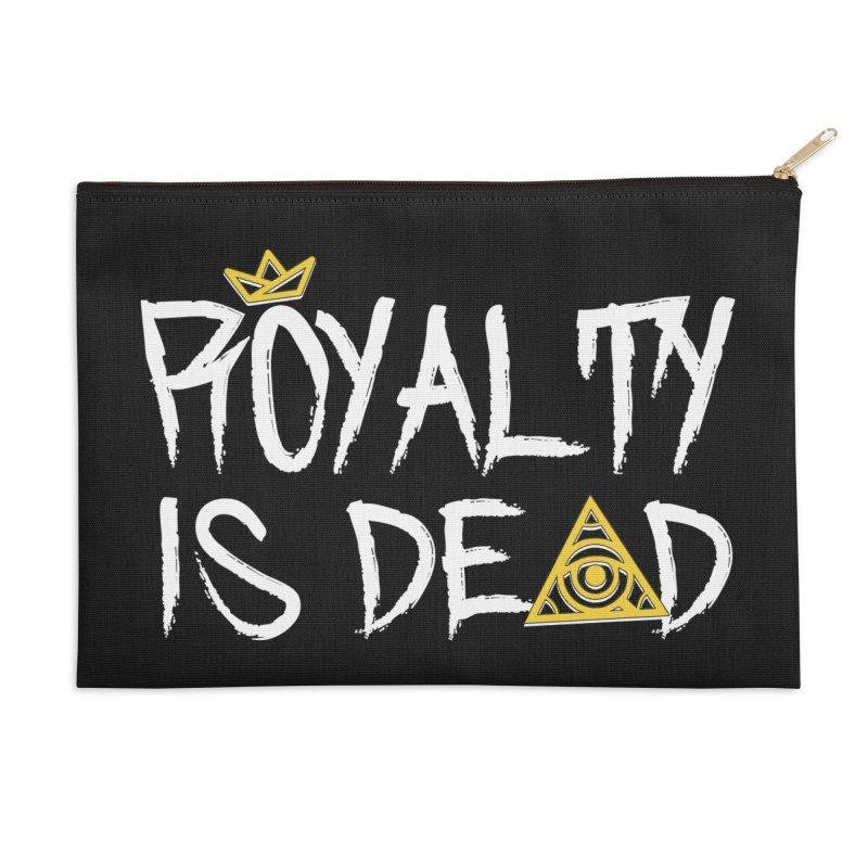 Royalty Is Dead - Dark Accessories Zip Pouch by 90FIVE