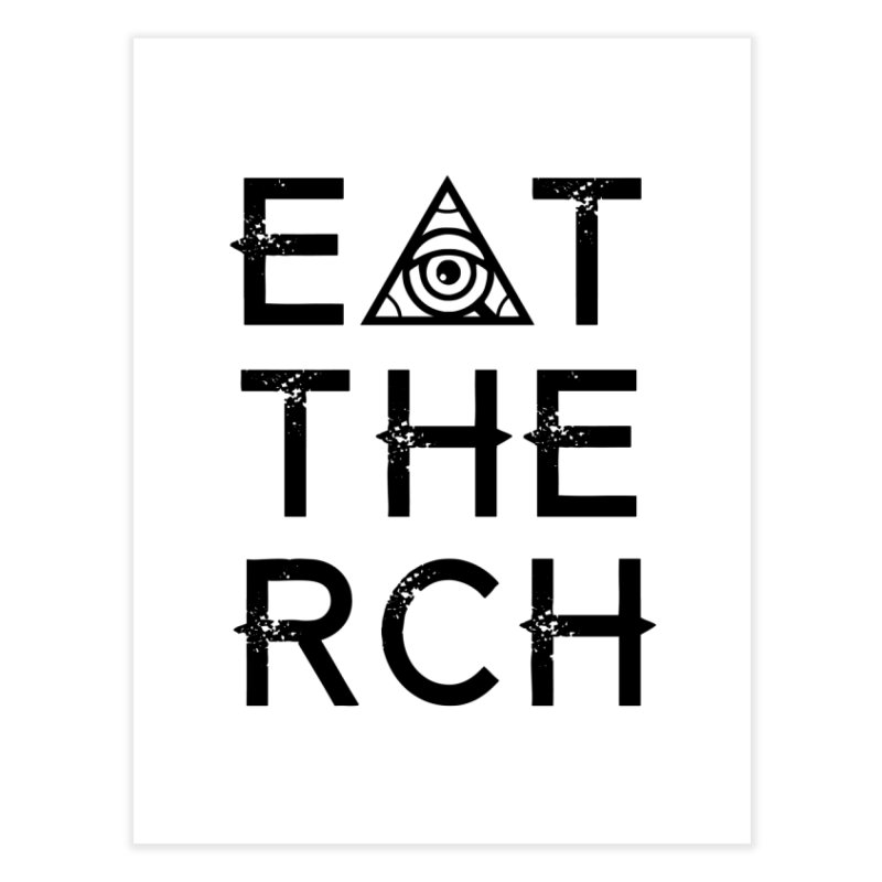 Eat The Rich - Light Home Fine Art Print by 90FIVE