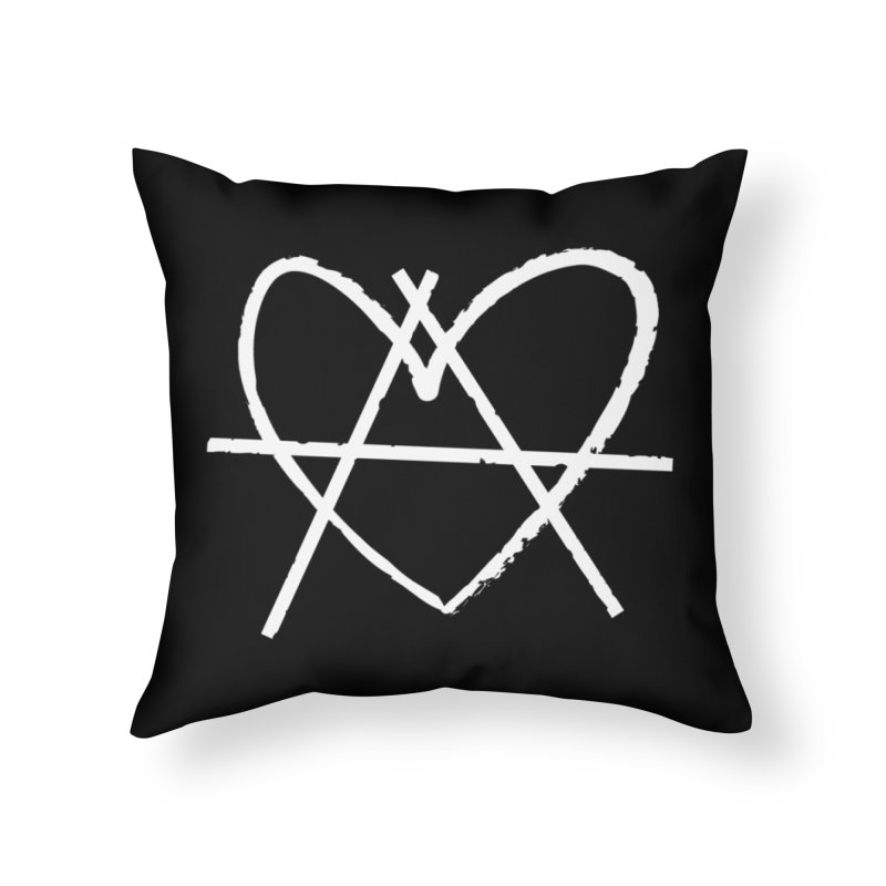Anheartchy - Anarchy Heart - Dark Home Throw Pillow by 90FIVE