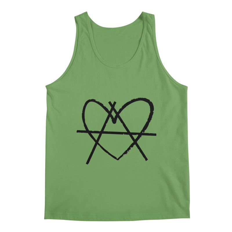 Anheartchy - Anarchy Heart - Light Men's Tank by 90FIVE
