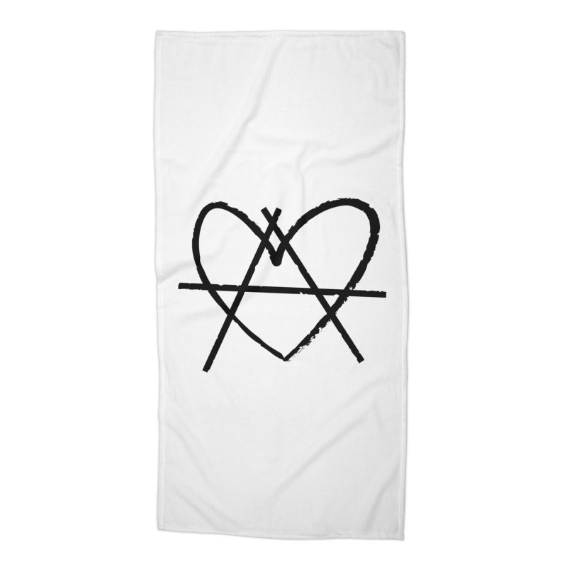 Anheartchy - Anarchy Heart - Light Accessories Beach Towel by 90FIVE