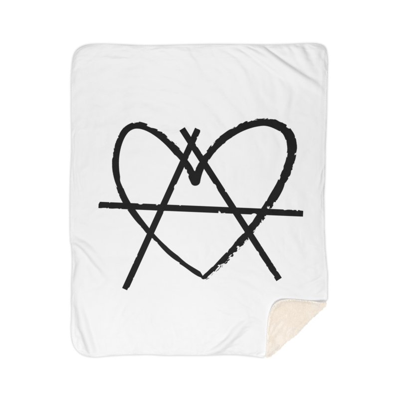Anheartchy - Anarchy Heart - Light Home Blanket by The 1984 Society