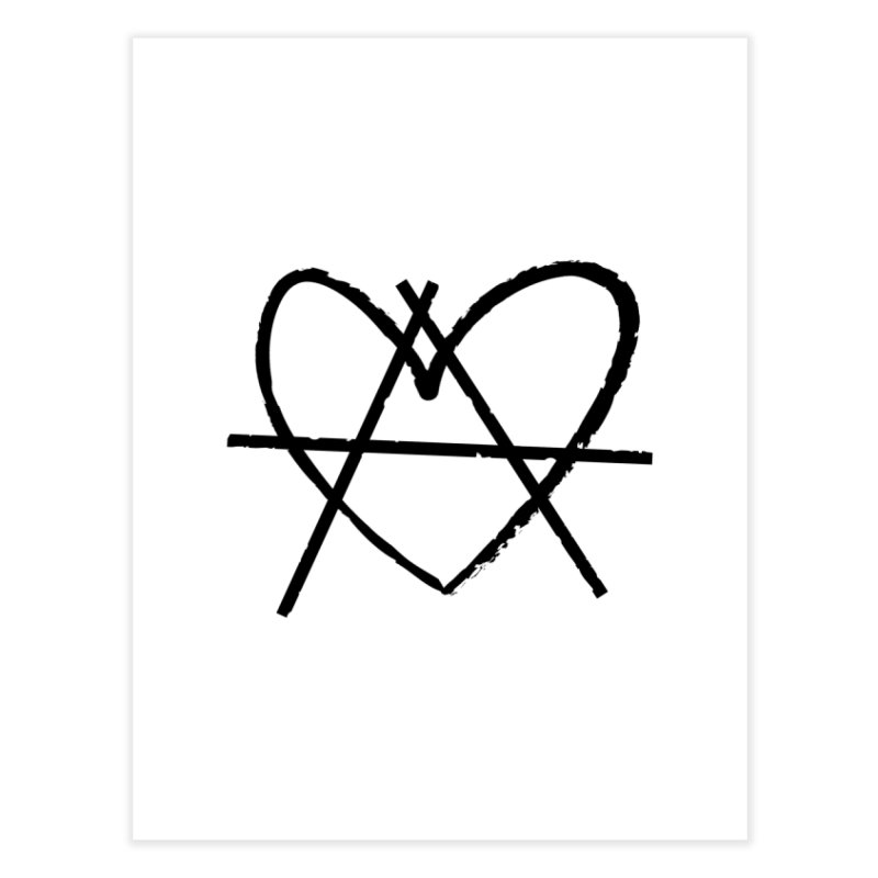 Anheartchy - Anarchy Heart - Light Home Fine Art Print by 90FIVE