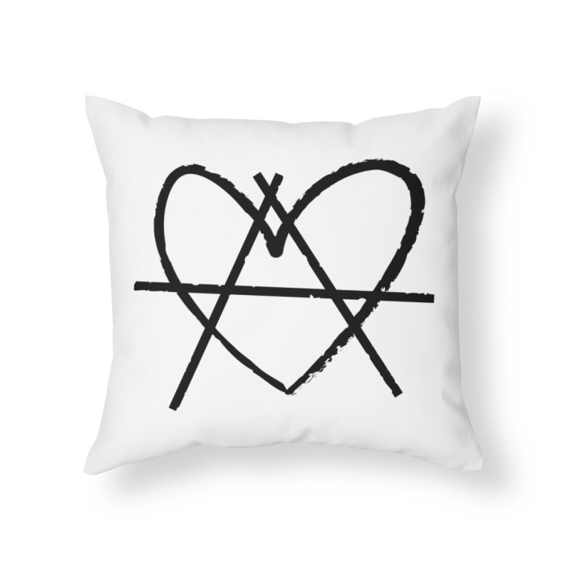 Anheartchy - Anarchy Heart - Light Home Throw Pillow by 90FIVE