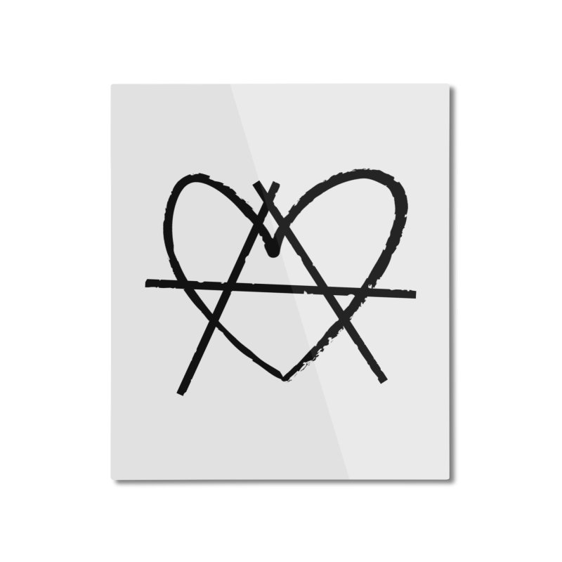 Anheartchy - Anarchy Heart - Light Home Mounted Aluminum Print by 90FIVE