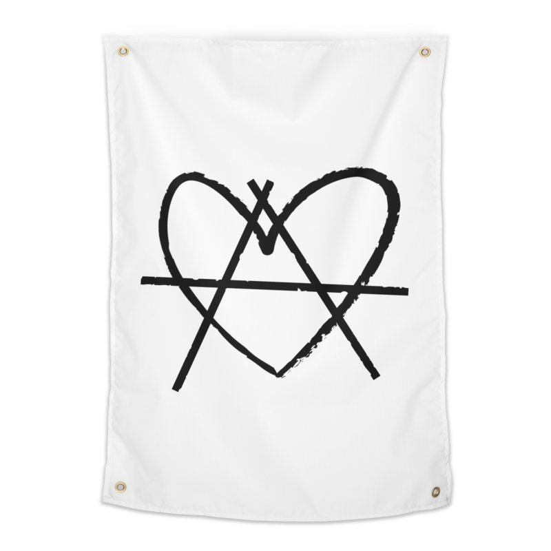 Anheartchy - Anarchy Heart - Light Home Tapestry by 90FIVE