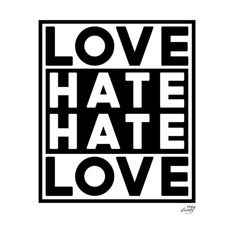 Love Hate Hate Love Accessories Notebook by 90FIVE