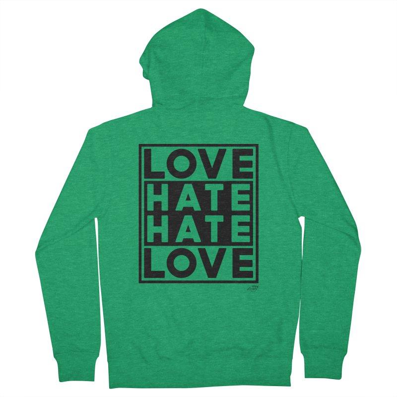 Love Hate Hate Love Women's Zip-Up Hoody by 90FIVE