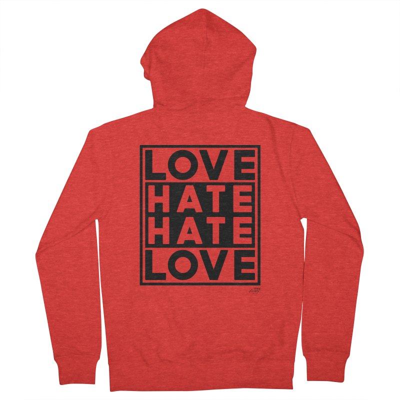 Love Hate Hate Love Men's Zip-Up Hoody by 90FIVE