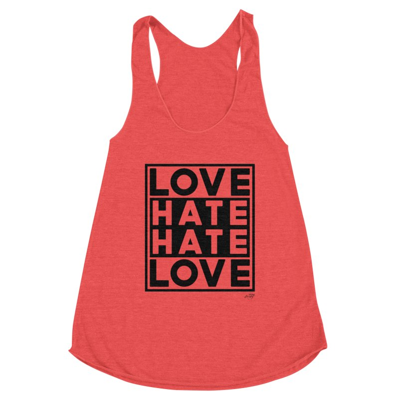 Love Hate Hate Love Women's Tank by 90FIVE