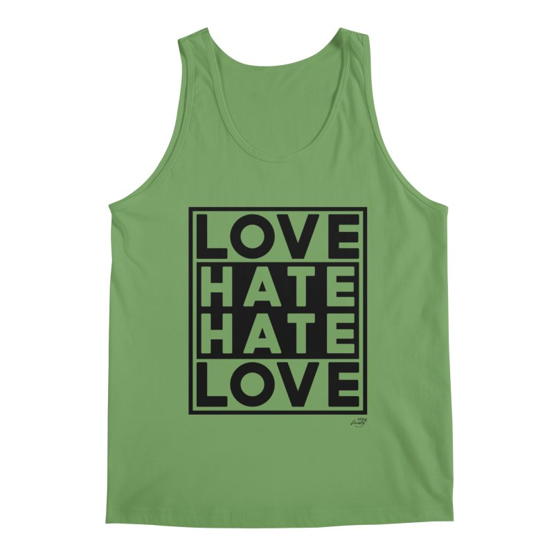 Love Hate Hate Love Men's Tank by 90FIVE