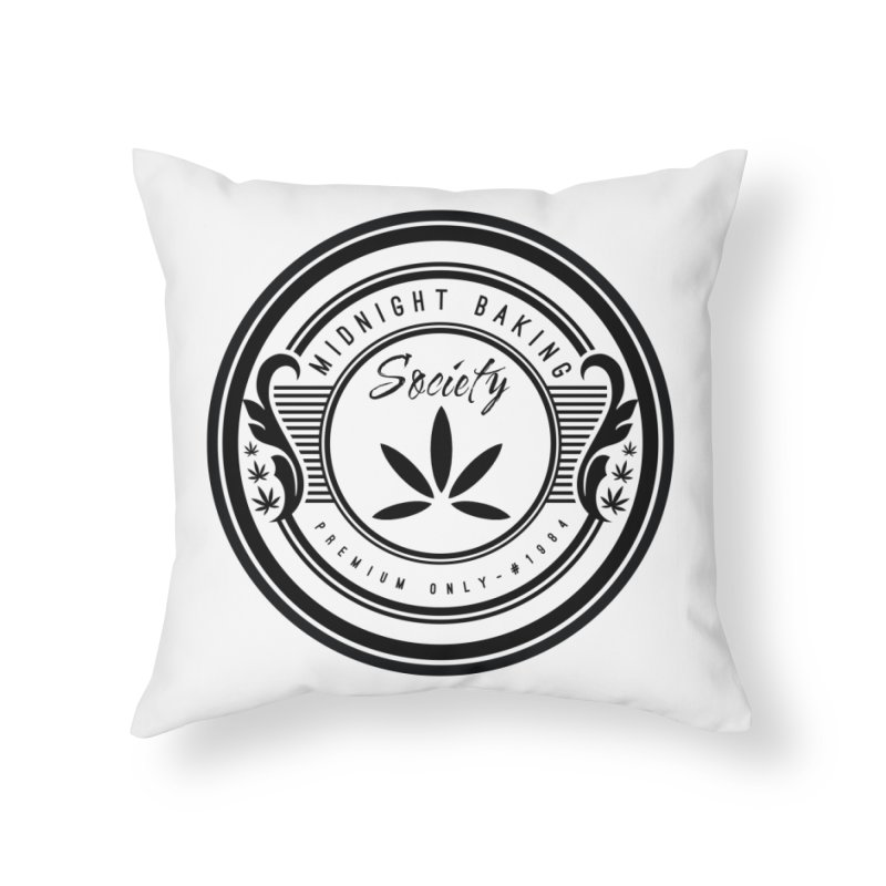 Midnight Baking Society - Light Home Throw Pillow by 90FIVE