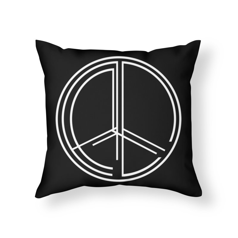 Find Peace - Dark Home Throw Pillow by 90FIVE