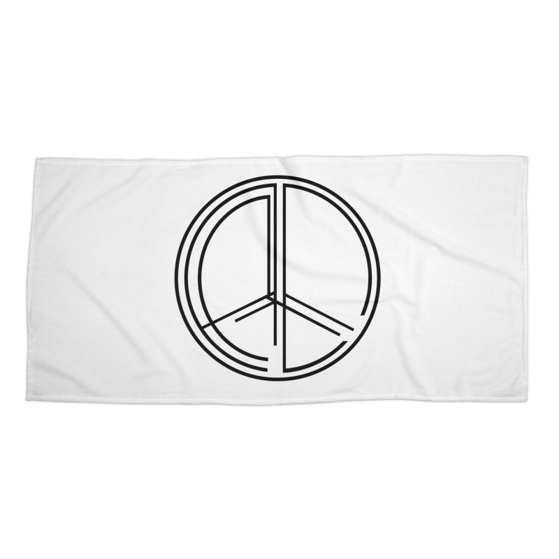 Find Peace - Light Accessories Beach Towel by 90FIVE