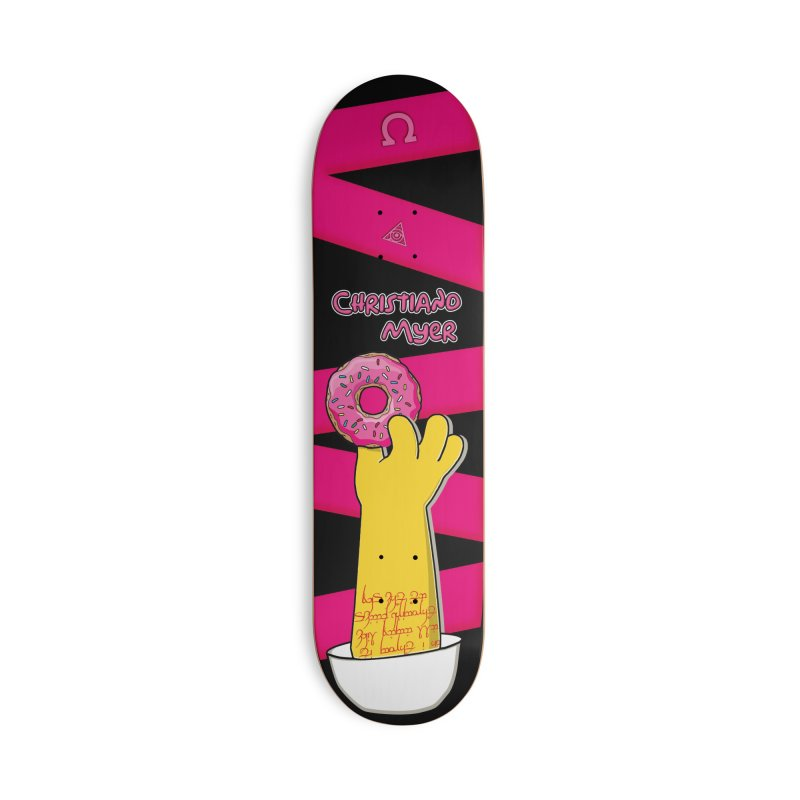 Hand Me A Doughnut - Christiano Myer Pro Model - Skateboard Accessories Skateboard by The 1984 Society