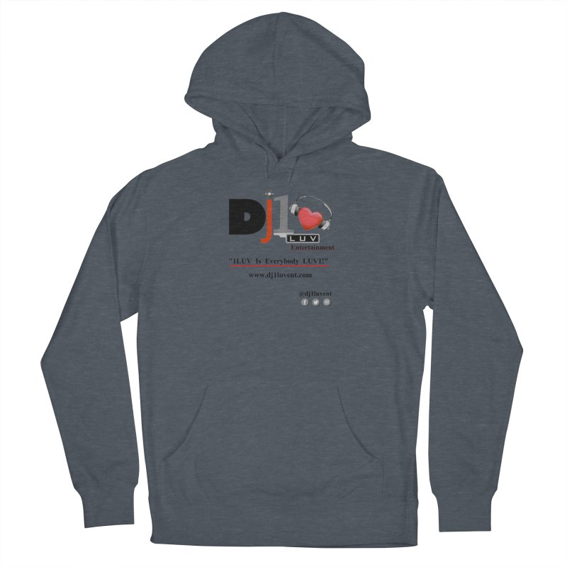 DJ1LUV Merch Men's French Terry Pullover Hoody by 1LUVMerch's Artist Shop
