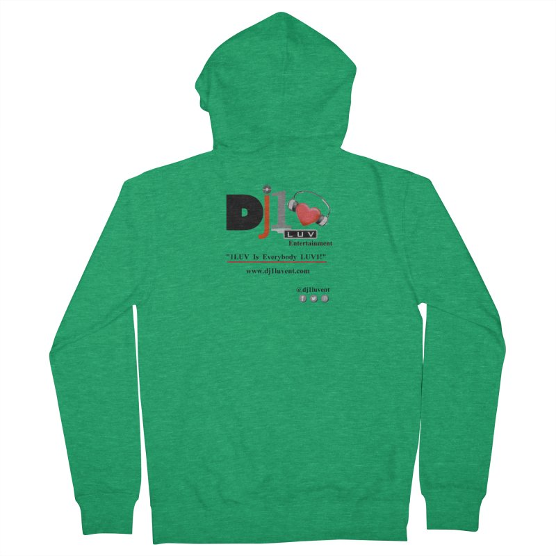 DJ1LUV Merch Men's Zip-Up Hoody by 1LUVMerch's Artist Shop