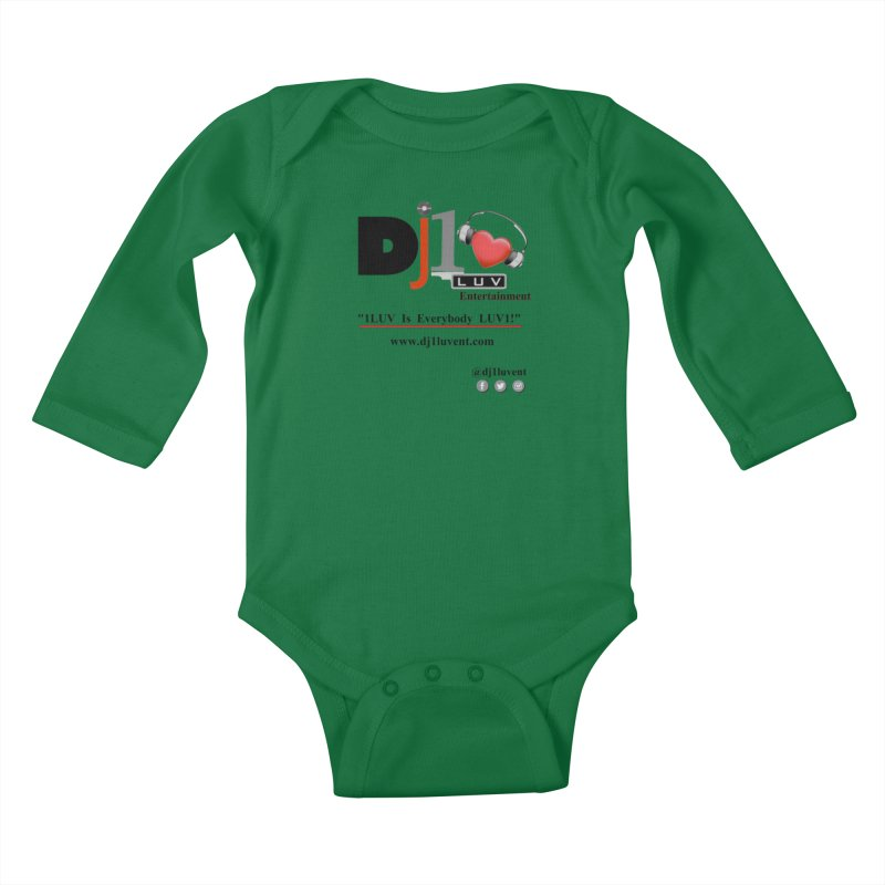 DJ1LUV Merch Kids Baby Longsleeve Bodysuit by 1LUVMerch's Artist Shop