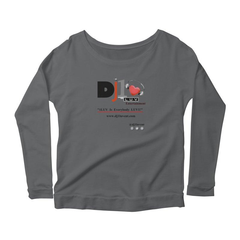 DJ1LUV Merch Women's Scoop Neck Longsleeve T-Shirt by 1LUVMerch's Artist Shop