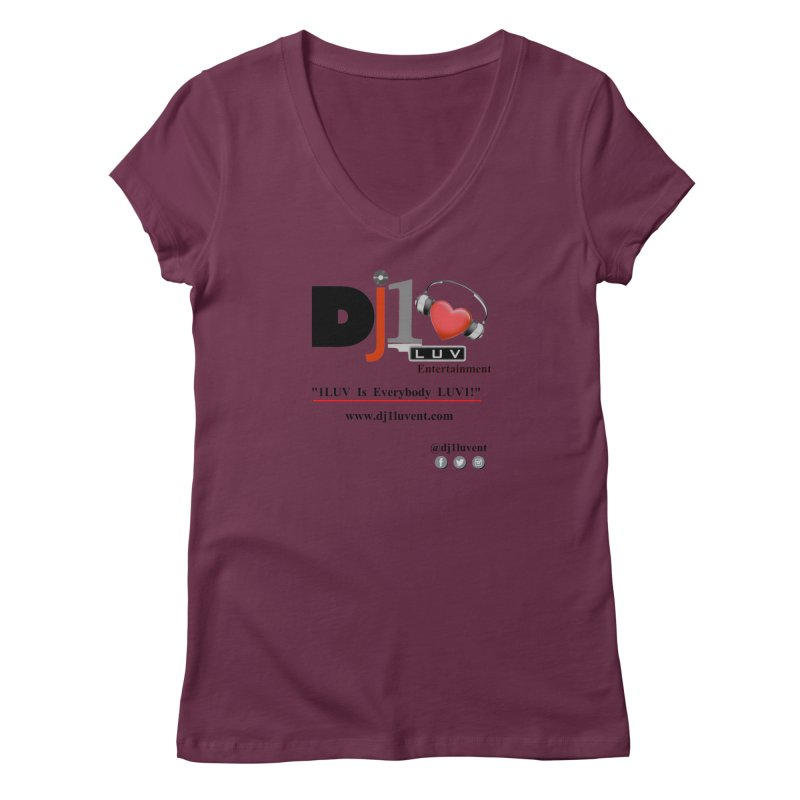 DJ1LUV Merch Women's Regular V-Neck by 1LUVMerch's Artist Shop