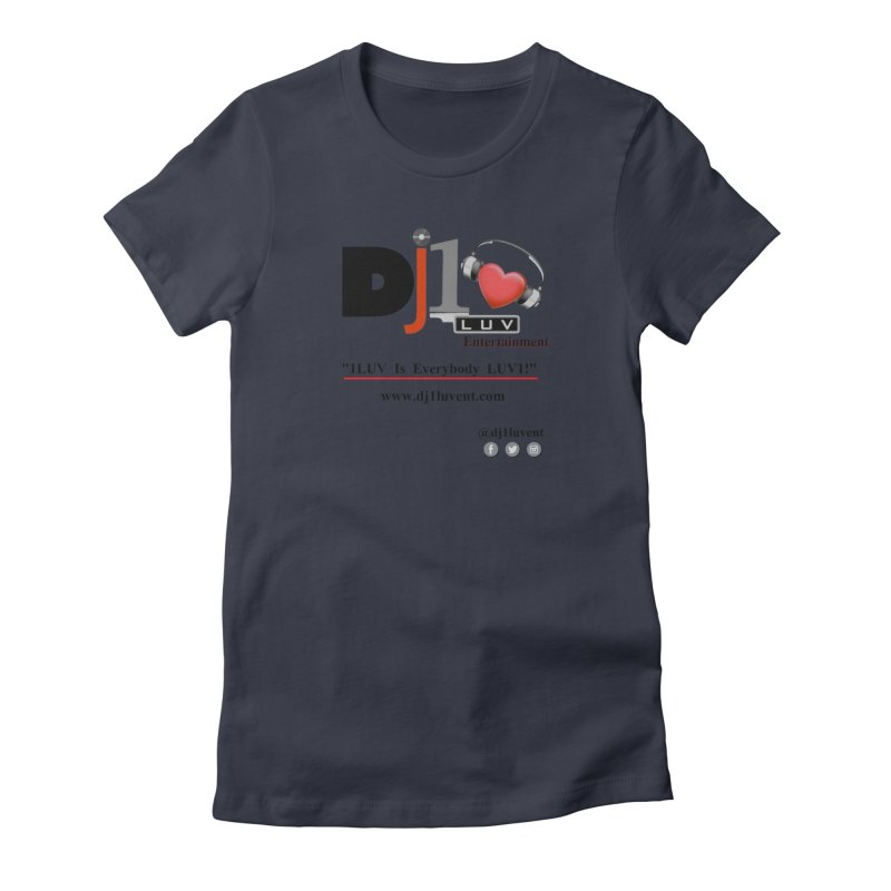 DJ1LUV Merch Women's Fitted T-Shirt by 1LUVMerch's Artist Shop