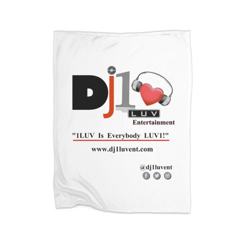 DJ1LUV Merch Home Fleece Blanket Blanket by 1LUVMerch's Artist Shop