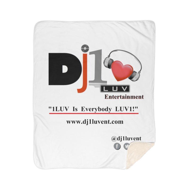 DJ1LUV Merch Home Sherpa Blanket Blanket by 1LUVMerch's Artist Shop