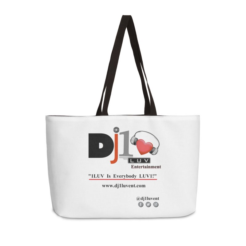DJ1LUV Merch Accessories Weekender Bag Bag by 1LUVMerch's Artist Shop