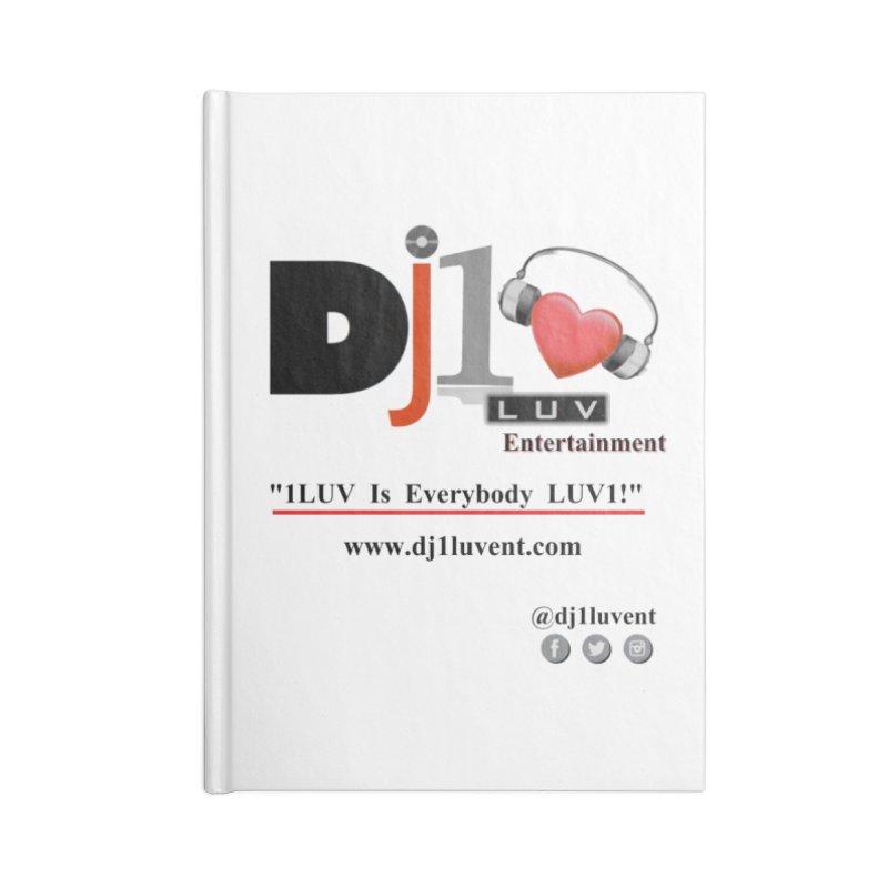 DJ1LUV Merch Accessories Lined Journal Notebook by 1LUVMerch's Artist Shop