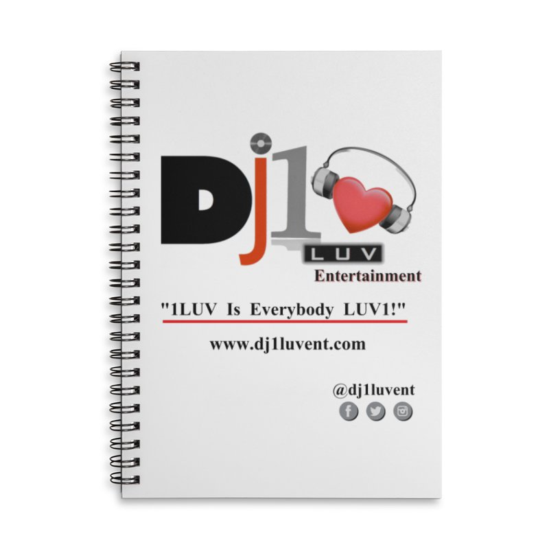 DJ1LUV Merch Accessories Lined Spiral Notebook by 1LUVMerch's Artist Shop