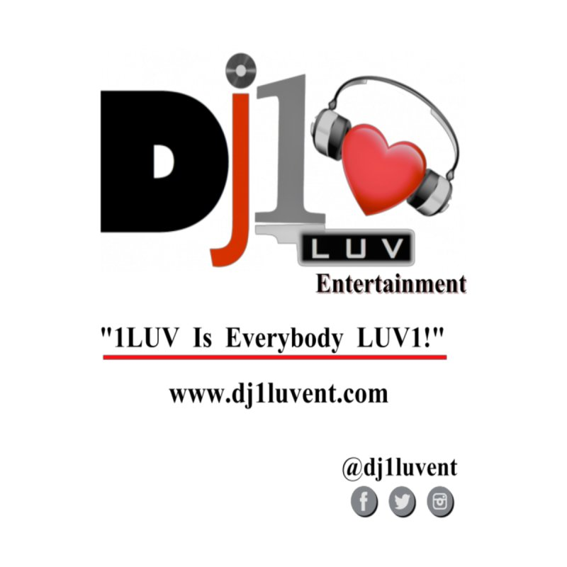 DJ1LUV Merch Men's V-Neck by 1LUVMerch's Artist Shop