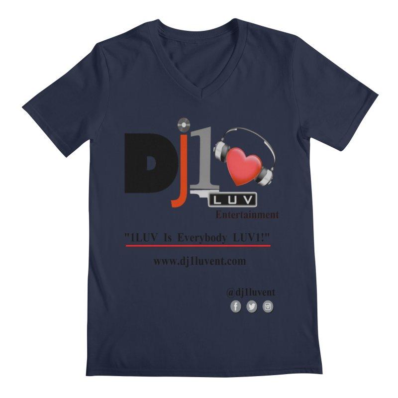 DJ1LUV Merch Men's V-Neck by 1LUVMerch's Artist Shop