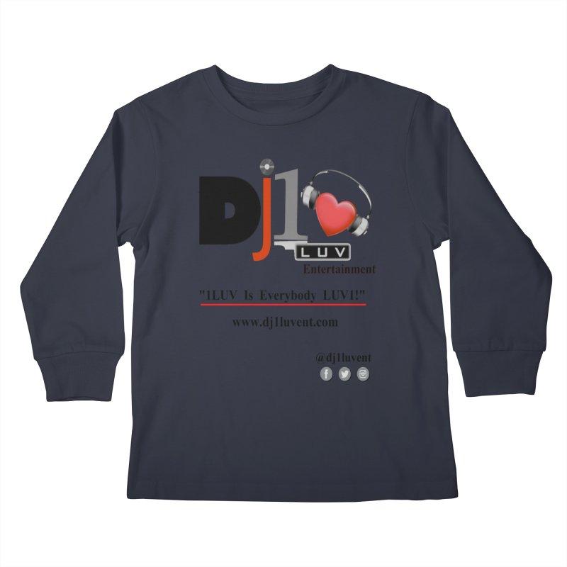 DJ1LUV Merch Kids Longsleeve T-Shirt by 1LUVMerch's Artist Shop