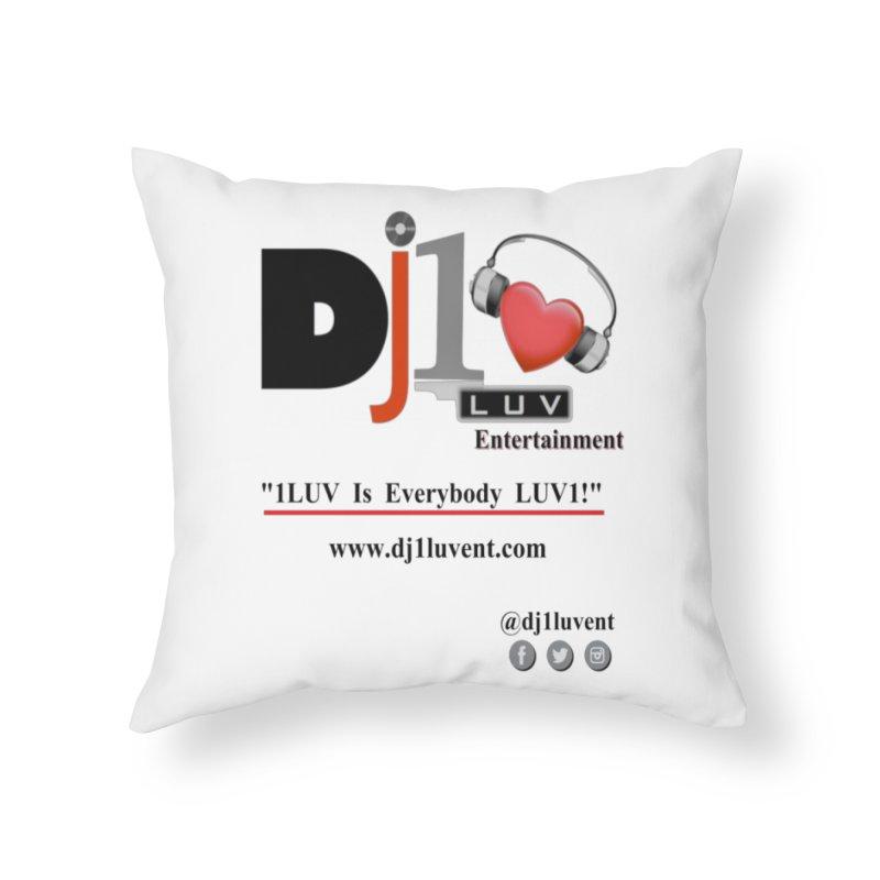 DJ1LUV Merch Home Throw Pillow by 1LUVMerch's Artist Shop