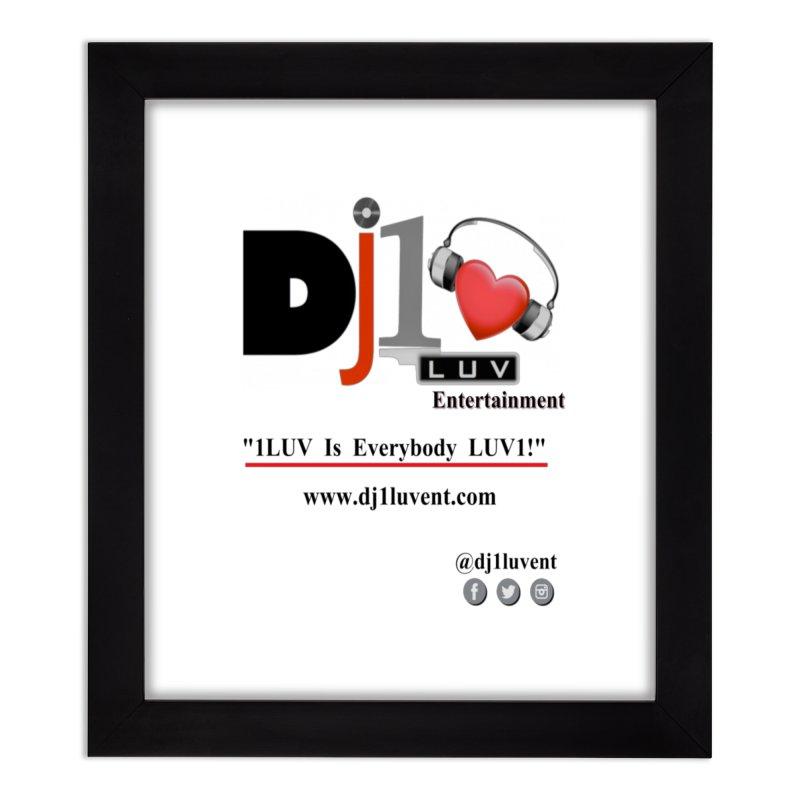 DJ1LUV Merch Home Framed Fine Art Print by 1LUVMerch's Artist Shop