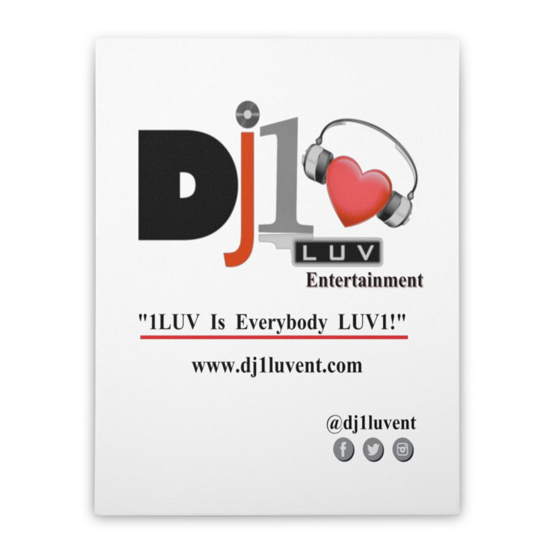 DJ1LUV Merch Home Stretched Canvas by 1LUVMerch's Artist Shop