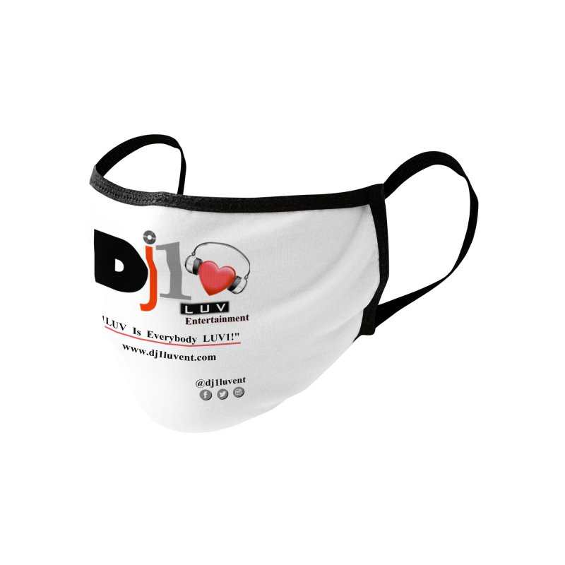 DJ1LUV Home Products Accessories Face Mask by 1LUVMerch's Artist Shop