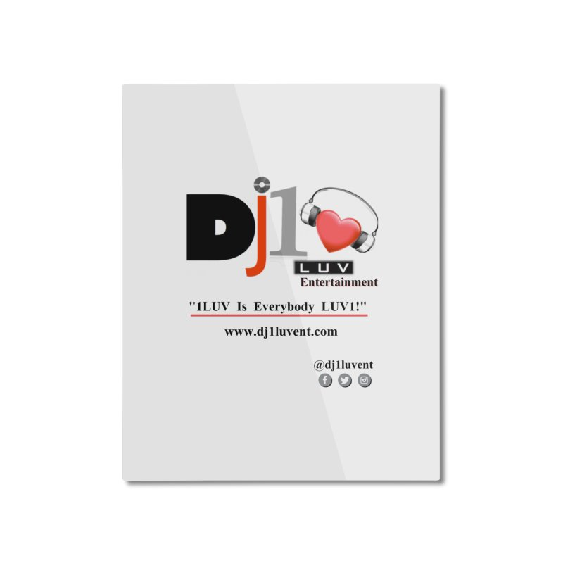 DJ1LUV Home Products Home Mounted Aluminum Print by 1LUVMerch's Artist Shop
